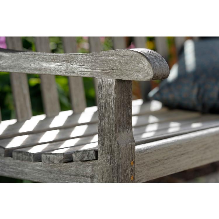 gartenbank cornwall teak patina grau stern. Black Bedroom Furniture Sets. Home Design Ideas