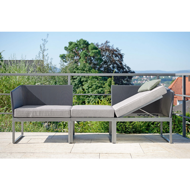 Balkon loungebank donna stern for Sofa fur garten