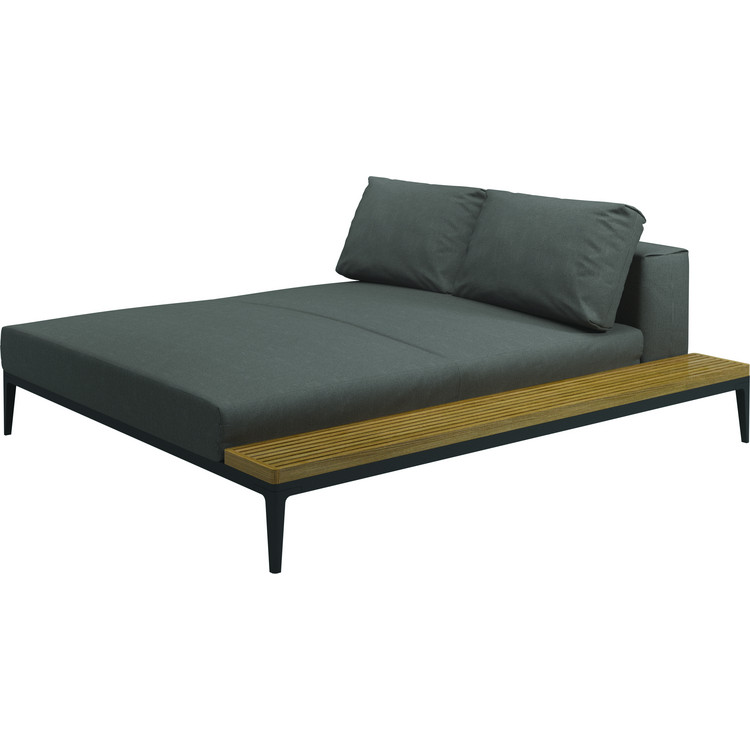 Garten Lounge Grid Chill Chaise Unit Gloster