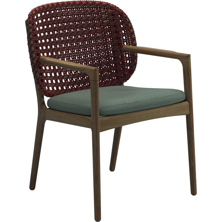 Dining Chair Kay, Gloster inkl. Sitzkissen