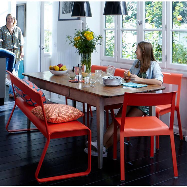 gartenset bellvie fermob eine bank und 3 st hle. Black Bedroom Furniture Sets. Home Design Ideas