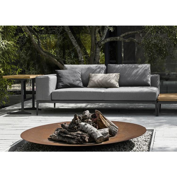 outdoor lounge ecke grid von gloster