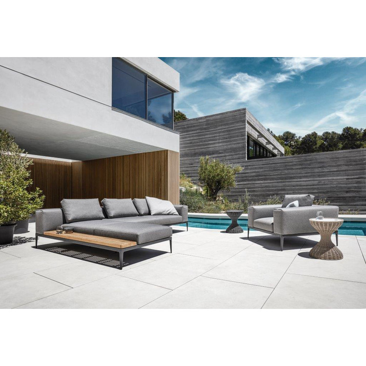 outdoor lounge ecke grid von gloster. Black Bedroom Furniture Sets. Home Design Ideas