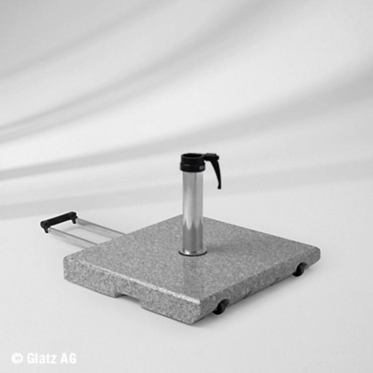 sonnenschirmst nder granit 55 kg mit standrohr. Black Bedroom Furniture Sets. Home Design Ideas
