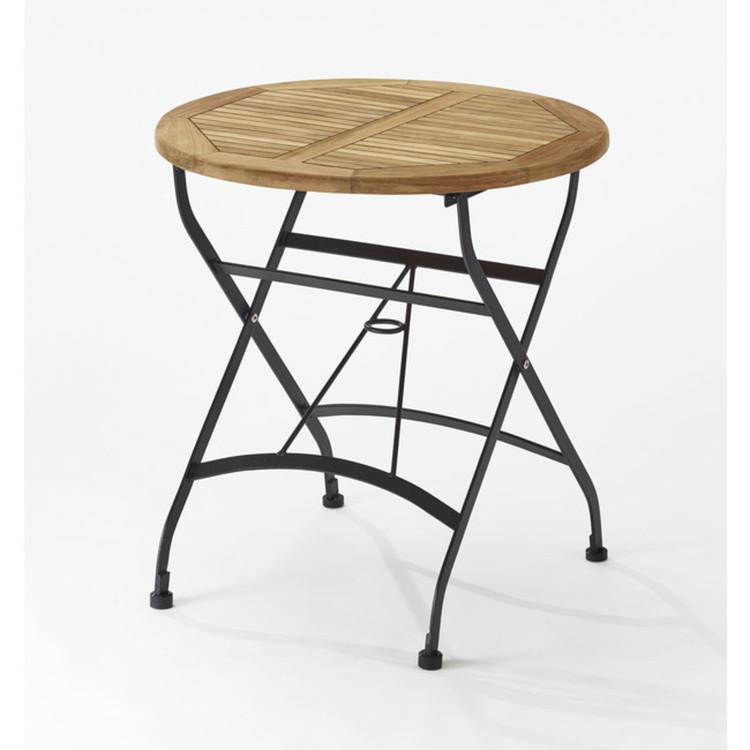 gartentisch charleston rund 70cm teakholz klappbar. Black Bedroom Furniture Sets. Home Design Ideas
