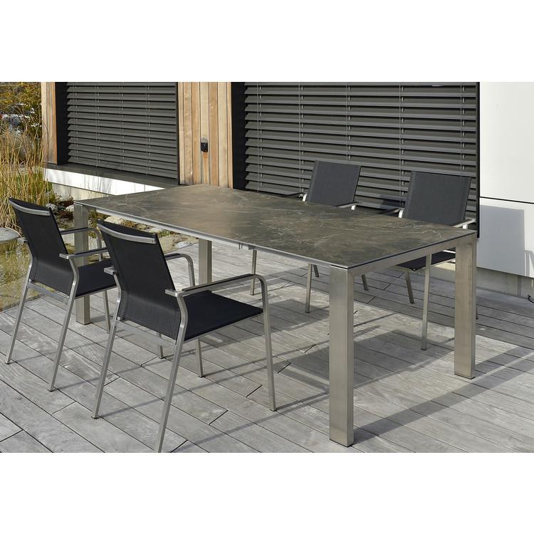 gartentisch 3 meter aluminium gartentisch esstisch kchentisch mit polywood non wood tischplatte. Black Bedroom Furniture Sets. Home Design Ideas