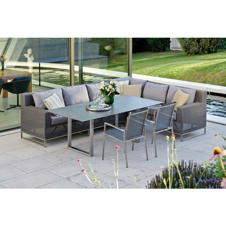 Garten kufentisch edelstahl noel miguel stern for Dinner lounge gartenmobel