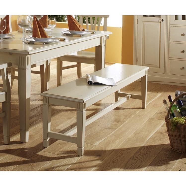bank lara 120 cm fichte wei gewischt. Black Bedroom Furniture Sets. Home Design Ideas