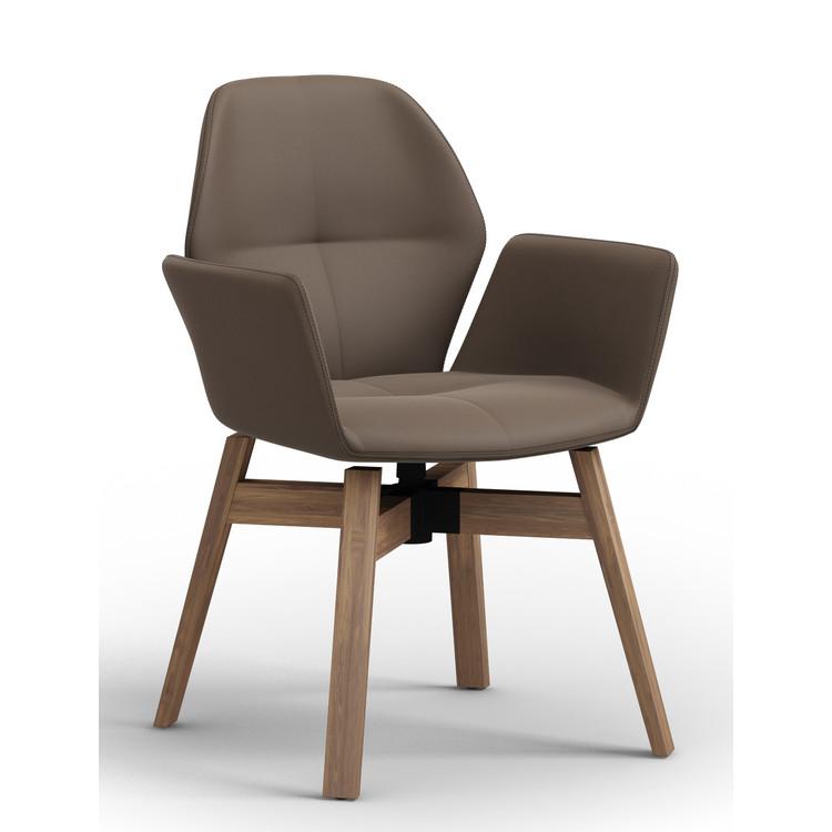 moods polstersessel holz k leder gazelle. Black Bedroom Furniture Sets. Home Design Ideas