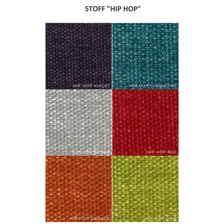"Moods Polstersessel No.95 / Stahl Stoff ""Hiphop"""