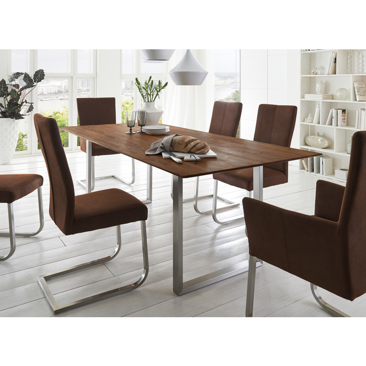 Großartig Tisch Mit Metallgestell Bild Von Wohndesign Dekorativ