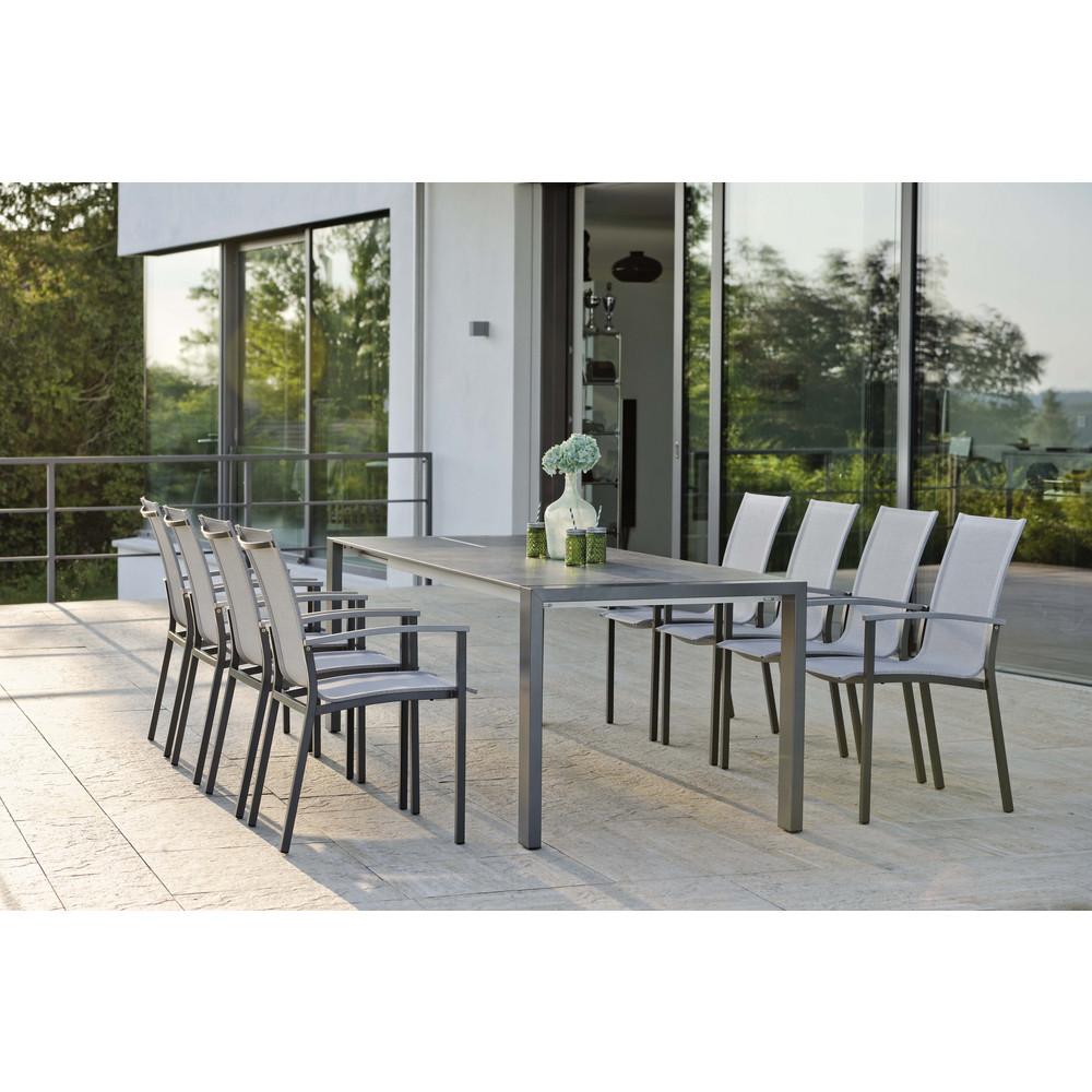 garten stapelsessel evoee aluminium stern. Black Bedroom Furniture Sets. Home Design Ideas