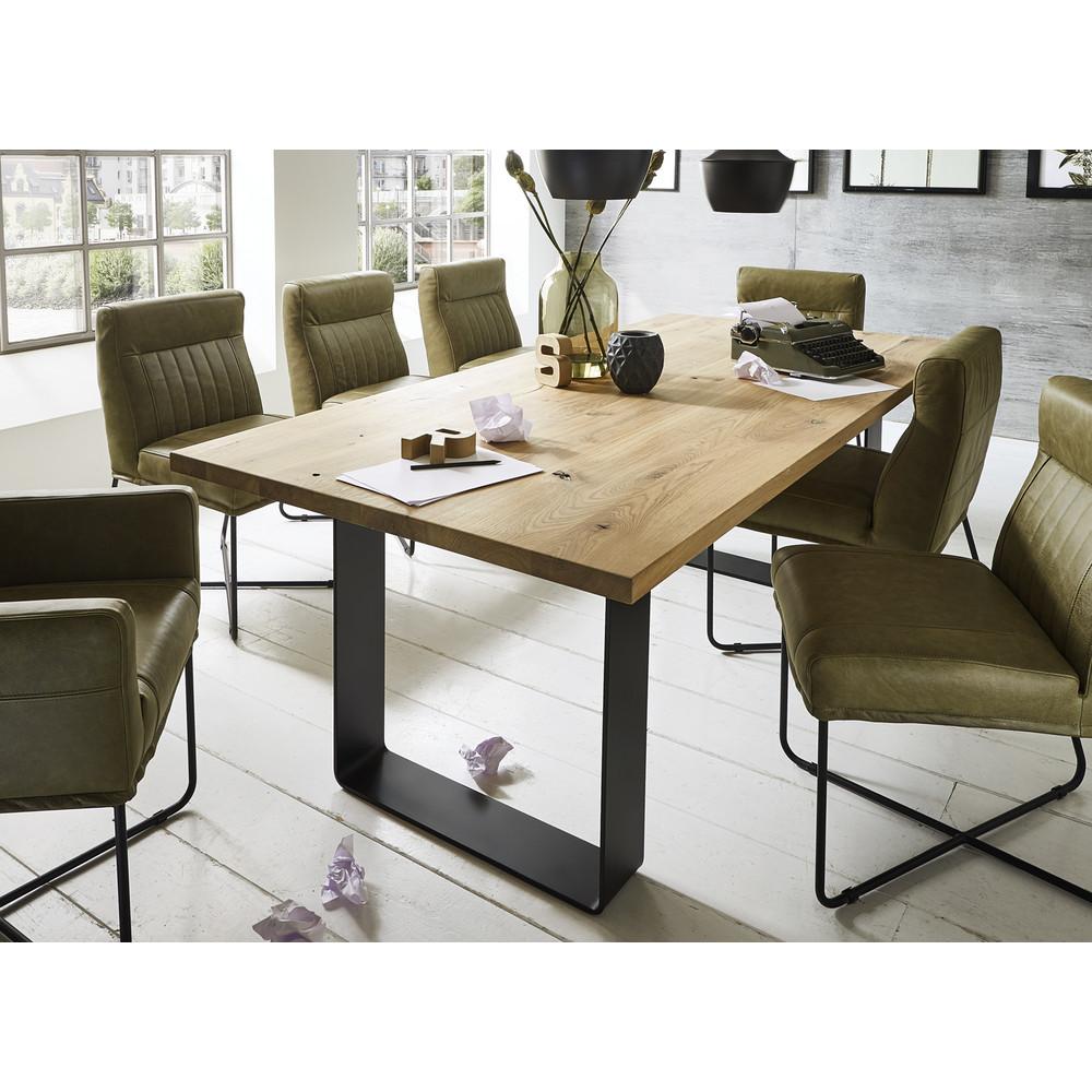 esstisch fargo wildeiche kernbuche metallgestell. Black Bedroom Furniture Sets. Home Design Ideas