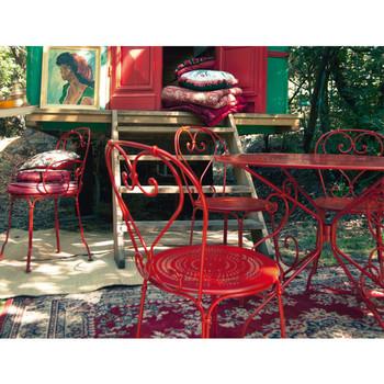 Balkon gestalten Kaffeetisch Sofa Set exotisches Ferienhaus