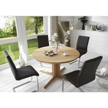 esstisch rund julie nussbaum ausziehbar d120cm. Black Bedroom Furniture Sets. Home Design Ideas