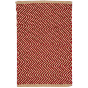 Dash & Albert, Teppich Arlington red/camel, 91x152