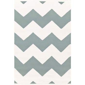 Dash & Albert, Teppich Chevron M blue White