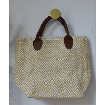 Dash & Albert, Tasche Tote petit, wheat/white